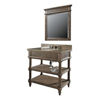"Luxe Toscano 36"" Single Bathroom Vanity - Oiled Oak B7037BV36-O136"