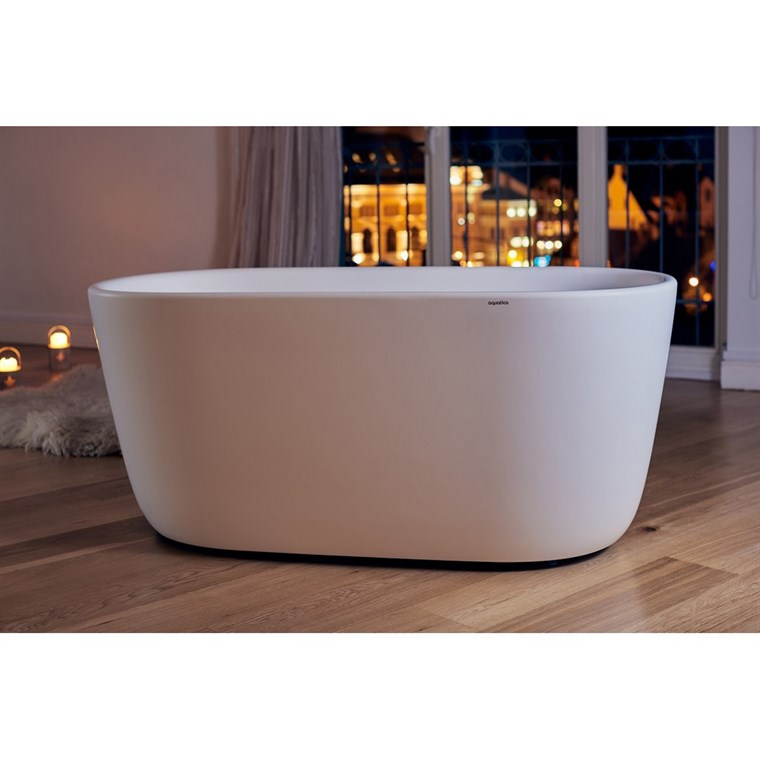 Aquatica Lullaby-Mini-Wht Freestanding Solid Surface Bathtub - Matte White Aquatica PS602M-Mini-Wht