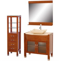 "Daytona 36"" Bathroom Vanity Set - Cherry Finish A-W2109T-36-CH-IVO-SET"