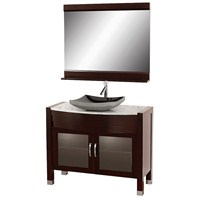 "Daytona 42"" Bathroom Vanity with Mirror - Espresso Finish A-W2109T-42-ESP-WHTCAR"