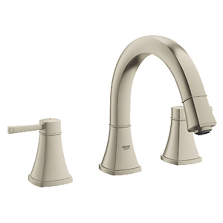 Grohe Grandera 3-Hole Roman Tub Filler - Brushed Nickel GRO 25154EN0