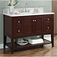 "Fairmont Designs Shaker Americana 48"" Vanity - Open Shelf for 1-1/4"" Thick Top - Habana Cherry 1513-VH48--"