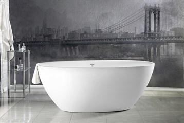 Aquatica Sensuality Mini Freestanding Solid Surface Bathtub - Matte White