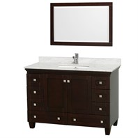 "Acclaim 48"" Single Bathroom Vanity Set by Wyndham Collection - Espresso WC-CG8000-48-ESP"