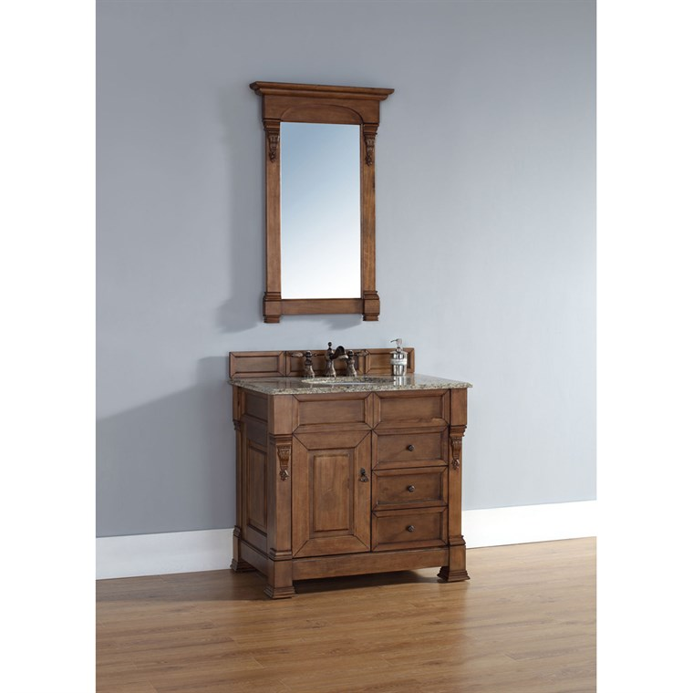 "James Martin 35"" Brookfield Single Vanity with drawers - Country Oak 147-114-5576"