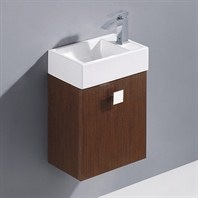 Vigo 16-inch Marina Single Bathroom Vanity - Wenge VG09039118K1