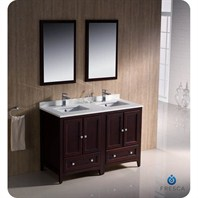 "Fresca Oxford 48"" Traditional Double Sink Bathroom Vanity - Mahogany FVN20-2424MH"