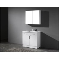 "Madeli Savona-36"" Bathroom Vanity for Quartzstone Top - Glossy White B925-36-001-GW-QUARTZ"