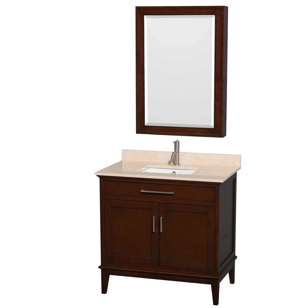 "Hatton 36"" Single Bathroom Vanity by Wyndham Collection - Dark Chestnut WC-1616-36-SGL-VAN-CDK"