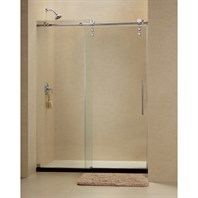 "Bath Authority DreamLine Enigma-Z Fully Frameless Sliding Shower Door and SlimLine Single Threshold Shower Base (34"" by 60"") DL-6627"