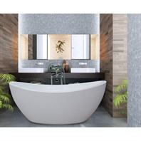 Aquatica PureScape 170 Freestanding Acrylic Bathtub - White Aquatica PS170