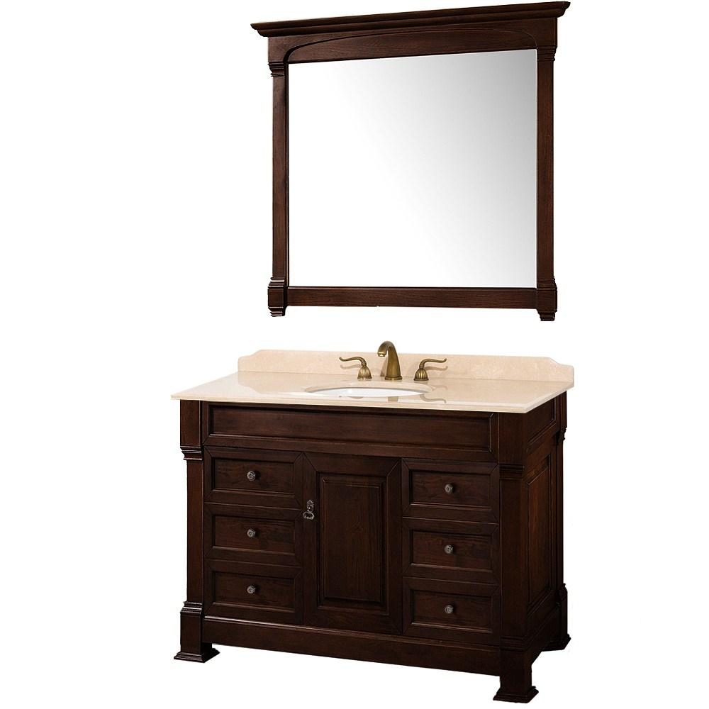 "Andover 48"" Traditional Bathroom Vanity Set by Wyndham Collection - Dark Cherrynohtin Sale $1499.00 SKU: WC-TS48-DKCH :"