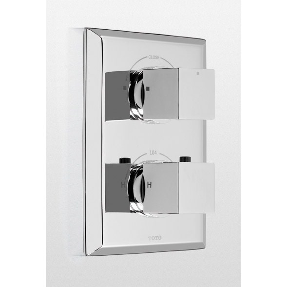TOTO Lloyd® Thermostatic Mixing Valve Trim with Dual Volume Controlnohtin Sale $484.80 SKU: TS930D :