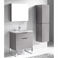 "Madeli Milano 30"" Bathroom Vanity for Integrated Basin - Ash Grey B200-30-021-AG"