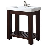 "Avanity Lexi 30"" Vanity Set With Integrated Porcelain Top - Light Espresso LEXI-VS30-LE"