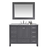 "Stufurhome 48"" Lissa Single Sink Bathroom Vanity - Gray GM-6412-48-GRAY"