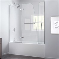 "DreamLine Aqua Ultra 56 to 60"" W x 58"" H Hinged Tub Door SHDR-3448580-EX"