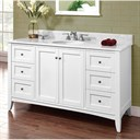"Fairmont Designs Shaker Americana 60"" Single Bowl Vanity - Polar White 1512-V60"