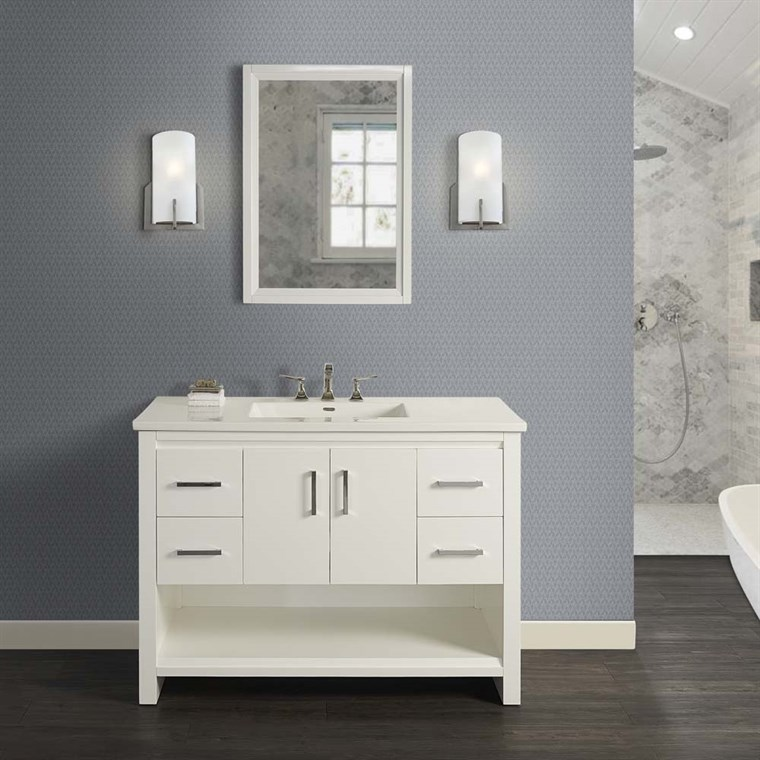 "Fairmont Designs Studio One 48"" Vanity for Integrated Top - Glossy White 1517-V48-"