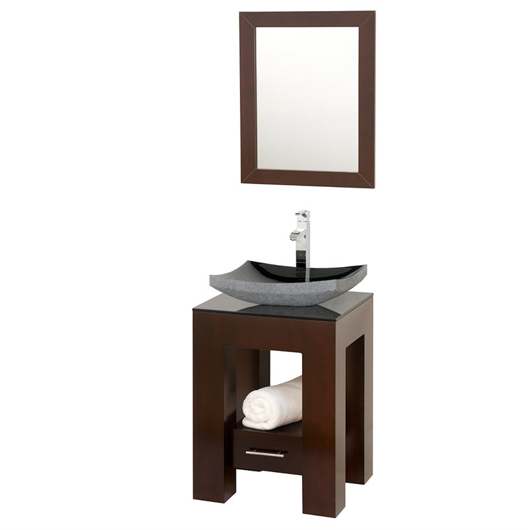 "Amanda 22"" Vanity Set by Wyndham Collection - Espresso WC-MS005-22-VAN-ESP"