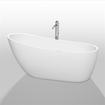 "Florence 68"" Soaking Bathtub by Wyndham Collection, White WC-BTO859-68 by Wyndham Collection®"