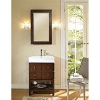 "Fairmont Designs 24"" Windwood Vessel Stand Vanity for Porcelain Sink - Natural Walnut 111-VS24"