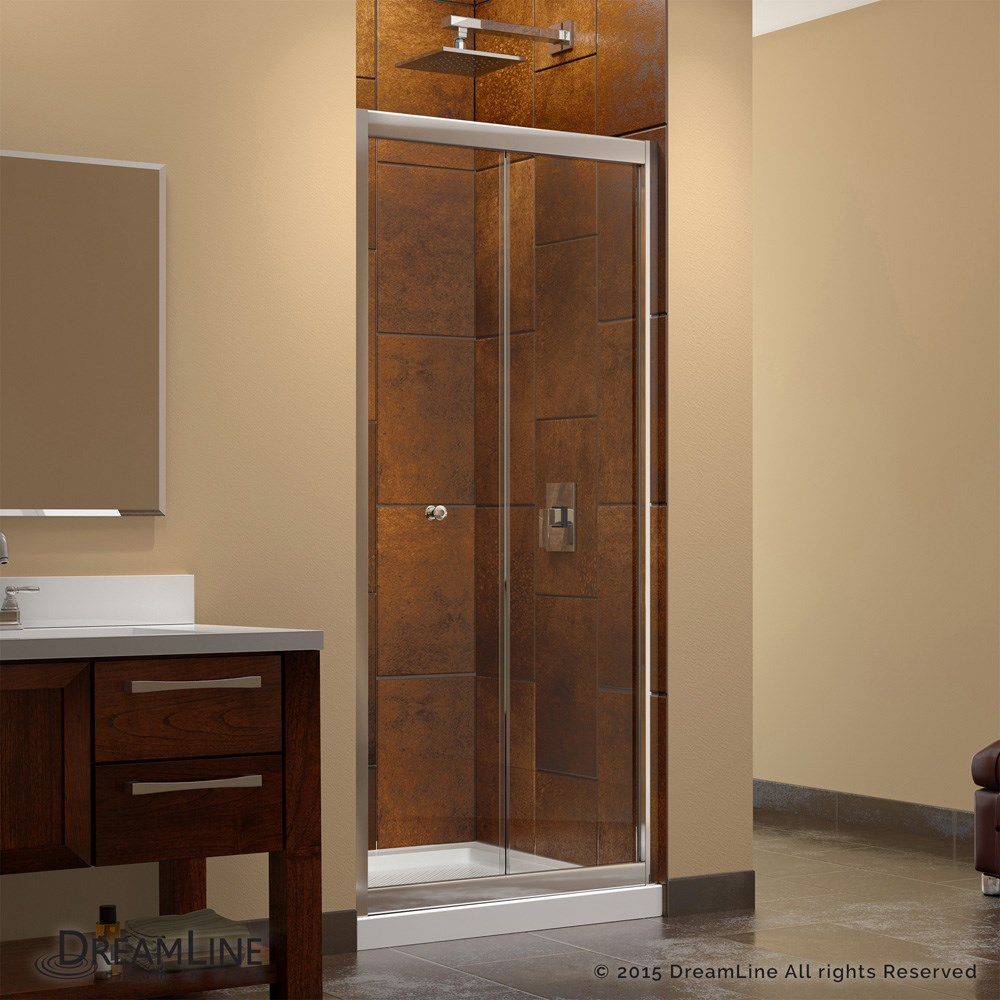 Bath Authority DreamLine Butterfly Frameless Bi-Fold Shower Door and ...