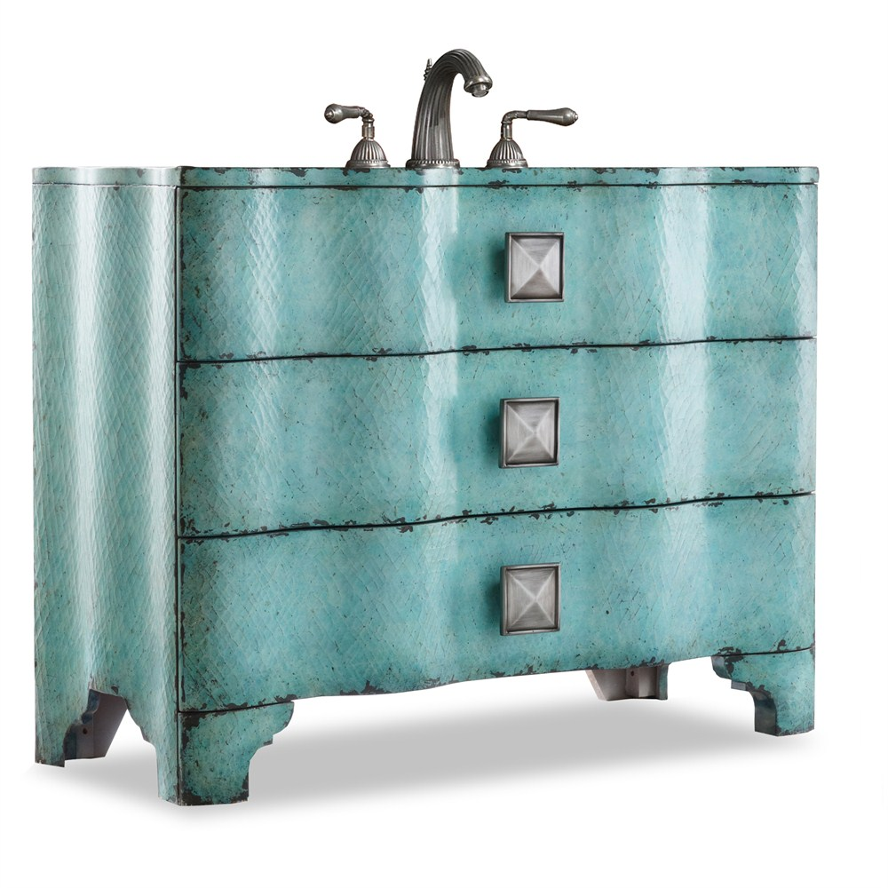 "Cole & Co. 44"" Designer Series Collection Chambers Sink Chest - Turquoise"