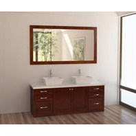 "Design Element Madeline 72"" Double Sink Vanity Set - Toffee DEC310"