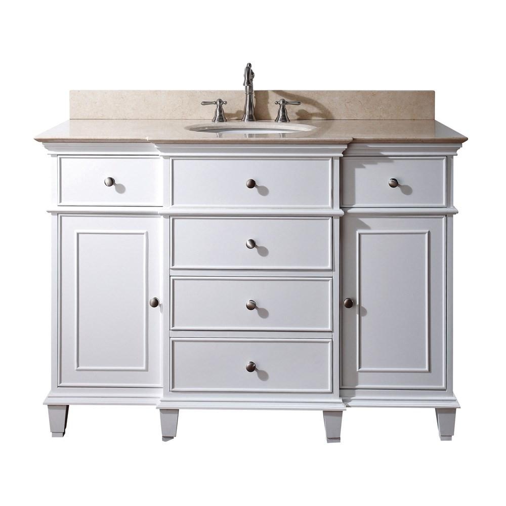 "Avanity Windsor 48"" Bathroom Vanity - Whitenohtin Sale $986.00 SKU: WINDSOR-48-WT :"