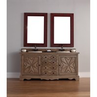 "James Martin 72"" Normandy Double Vanity - Weathered Oak 600-V72-WHO"
