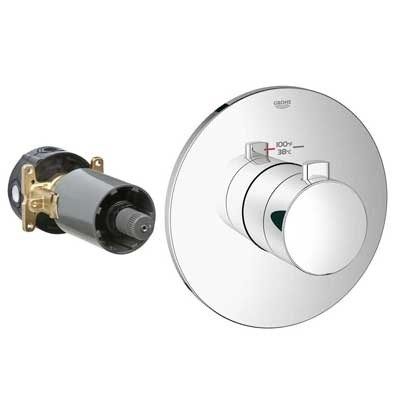 Grohe GrohFlex Cosmopolitan Custom Shower Thermostatic Trim with Control Modulenohtin Sale $283.99 SKU: GRO 19879 :