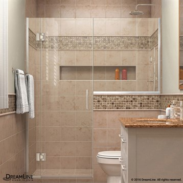 "DreamLine Unidoor-X 53"" to 60-1/2""W Hinged Shower Door with 24"" Wide Buttress Panel D53BUTTRESS by Bath Authority DreamLine"