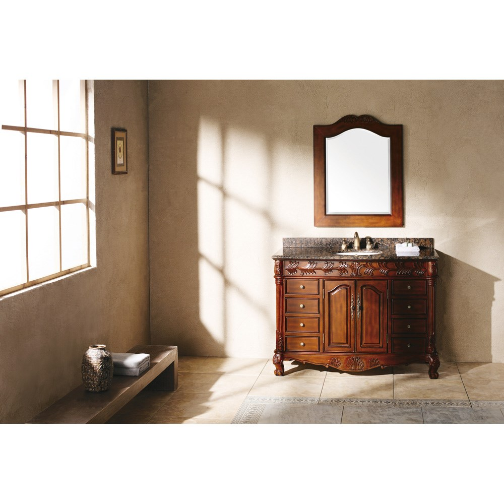 "James Martin 48"" St. James Single Granite Top Vanity - Cherrynohtin Sale $1335.00 SKU: 206-001-5100 :"