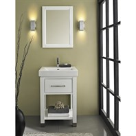 "Fairmont Designs Midtown 24"" Open Shelf Vanity - Gloss White 144-V2418A"