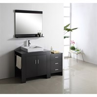 "Virtu USA Tavian 54"" Single Sink Bathroom Vanity - Espresso MS-7054"