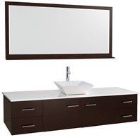 "Bianca 72"" Wall-Mounted Single Bathroom Vanity - Espresso WHE007-72-ESP-SGL"