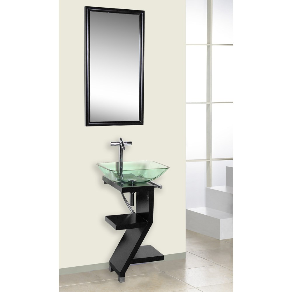 Bath Authority Dreamline Black Wood Base Petite Powder Room Vanity - Contemporary-bathroom-vanities-from-dreamline