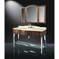 "Luxe Santa Cruz 60"" Single Bathroom Vanity - Midnight Cherry B2666BV60-C247"