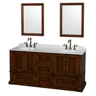 "Rochester 72"" Double Bathroom Vanity by Wyndham Collection - Cherry WC-J231-72-DBL-VAN-CHE"