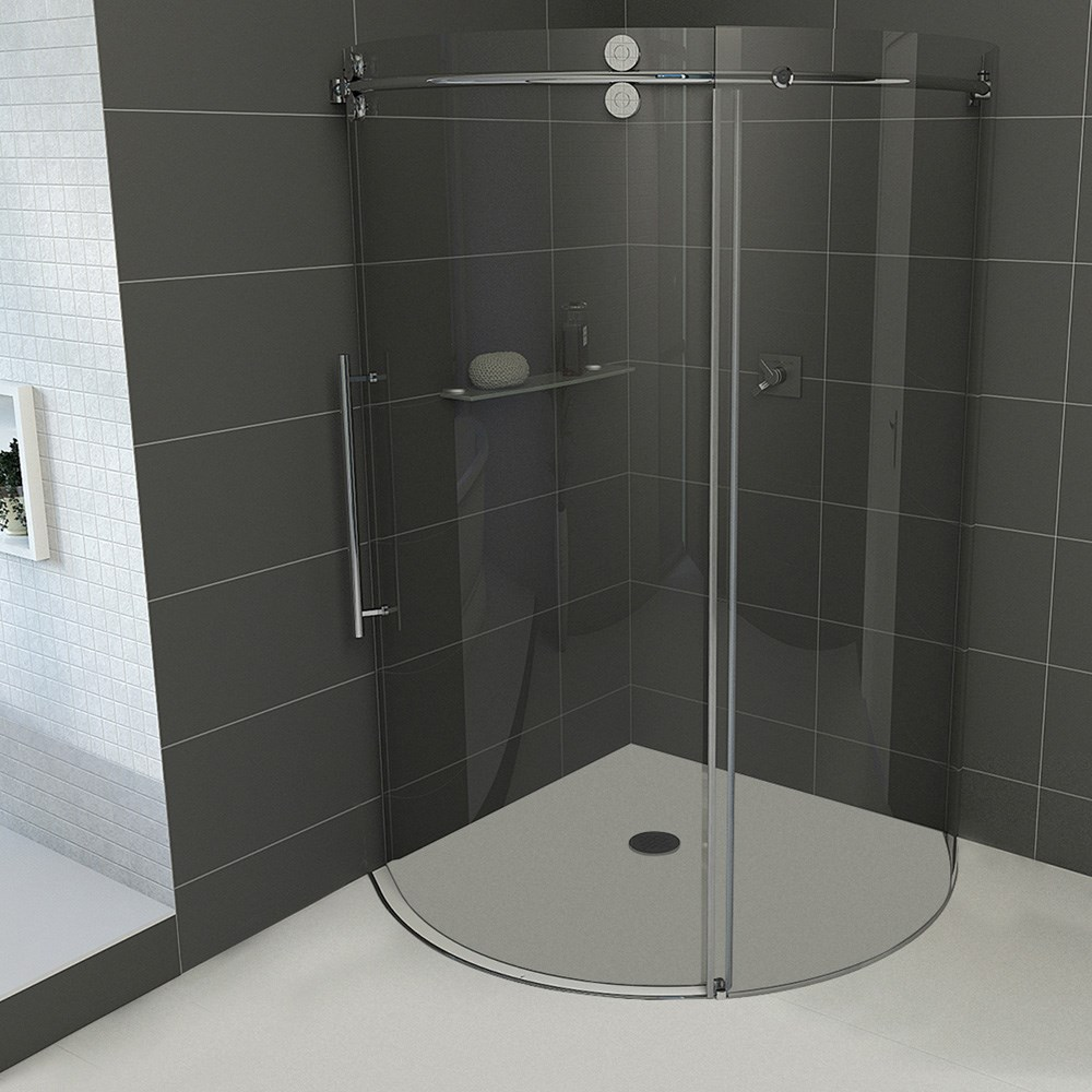 Vigo Industries Frameless Round Shower Enclosure - 36\