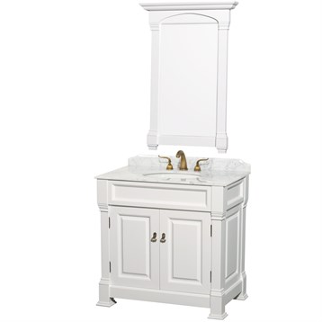 "Bathroom Vanities Set andover 36"" traditional bathroom vanity setwyndham collection"