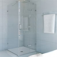 "Vigo Industries Frameless Square Shower Enclosure - 36"" x 36"", Clear VG6011CL-36x36"