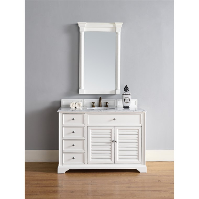 "James Martin 48"" Savannah Single Vanity - Cottage White 238-104-V48-CWH"