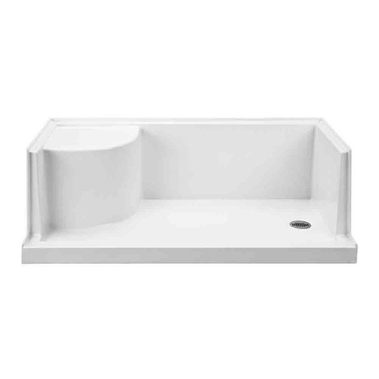 "MTI MTSB-6030SEATED Multi-Threshold Shower Base with Seat (60"" x 30"") MTSB-6030SEATED"