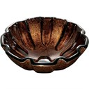 VIGO Walnut Shell Glass Vessel Bathroom Sink VG07038