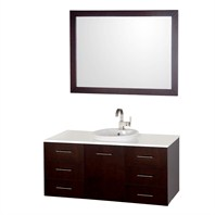 "Arrano 48"" Single Vanity Set by Wyndham Collection - Espresso WC-B400-48-SGL-VAN-ESP"