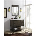 "Fairmont Designs Toledo 36"" Vanity with Doors for Quartz Top - Driftwood Gray 1401-36"