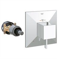 Grohe GrohFlex Allure Brilliant Dual Function Thermostatic Trim with Control Module - Starlight Chrome GRO 19794000