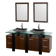 "Greenwich 72"" Double Bathroom Vanity - Walnut CGD001-72-WAL"